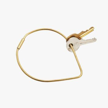 Areaware Contour Key Ring in Drop