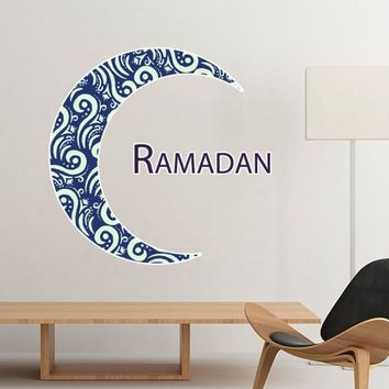 Islam Religion Arab Allah Faith Pilgrimage Ramadan Moon Decoration Wall Sticker Art Decals Mural DIY Wallpaper for Room Decal