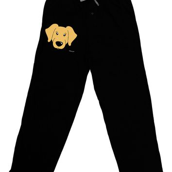 Cute Golden Retriever Dog Adult Lounge Pants - Black by TooLoud