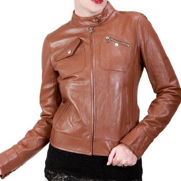 Handmade Women leather jacket,with quality and stylish leather jacket,women biker leather jacket