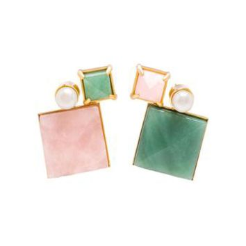 VOLHA | Geometric Earrings | brownsfashion.com | The Finest Edit of Luxury Fashion | Clothes, Shoes, Bags and Accessories for Men & Women