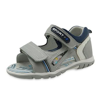 New Boys Sandals Genuine Leather Flat Kids Shoes for Toddler Boys Orthopedic Sandals with Arch Support