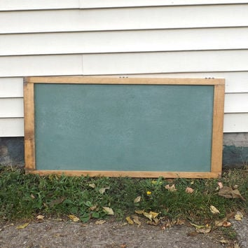 Vintage 1960u0027s Large Green Chalkboard Wall Hanging Wood Frame Mid Century  Modern Retro School Decorative Home