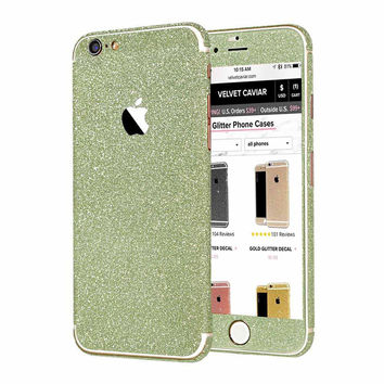 GREEN GLITTER DECAL