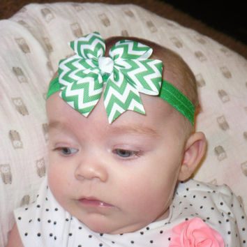 BABY Headband Baby Girl Headband Kids Headband Children Headband Hairband Women Headband Hair Accessories Bow Bows Green   Goodtreasures123