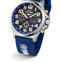 TW Steel TW927 Men's Watch Special Edition Yamaha Factory Racing 48mm With Blue Strap