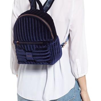 Ted Baker London Bow Detail Velvet Backpack | Nordstrom