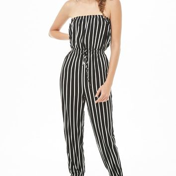 Striped Tube Jumpsuit