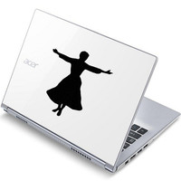 The Sound Of Music Velvet Decal - Maria Laptop Sticker - Movie Wall Decal - Nursery Wall Decor