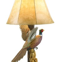 Flying Pheasant Table Lamp - Western Decor - Cabin Decor
