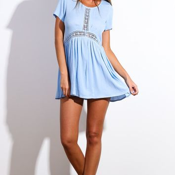 Sun Dancer Dress Light Blue