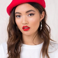 Red French Affair Beret