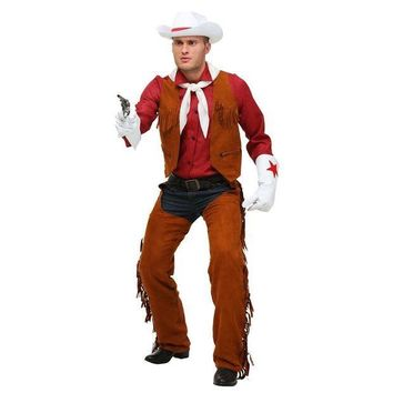 CREY6F Limited Adult Men's Deluxe West Rodeo Cowboy Halloween Performance Costumes