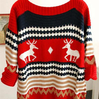 Cupshe Lucky Deer With Me Christmas Sweater