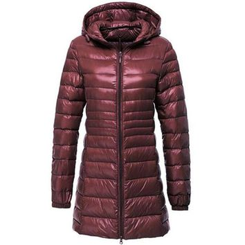 Long Jacket Women Winter Down Coats Women's Casual Hooded White Duck Down Jackets Ultralight Warm 5XL 6XL Coat Casaco Feminino
