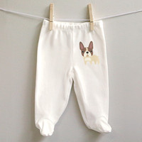 French Bulldog baby pants for baby girl or baby boy