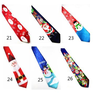 New Design Christmas Tie 9.5cm Style Men's Fashion Neckties Helloween Festival Tie Soft Designer Character Necktie