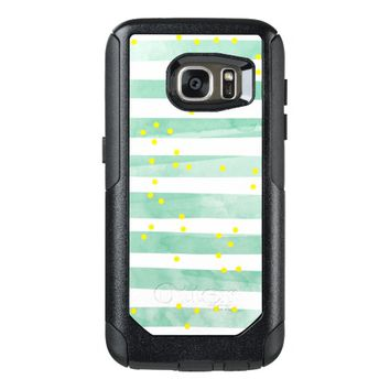 Vintage White Stripes Pattern OtterBox Samsung Galaxy S7 Case