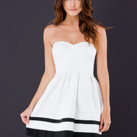 Scallop Banded Strapless Dress GoJane.com