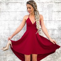 Dance The Night Away Dress in Burgundy