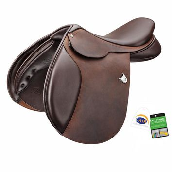 Bates (CAIR) Caprilli Close Contact Saddle with Forward Flap and Heritage Leather