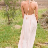 Peachy Keen Open Back Maxi Dress