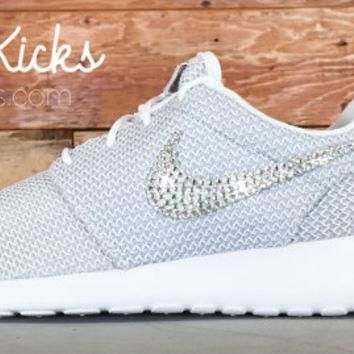 Bling Nike Roshe Run Glitter Kicks - Blinged Nikes, Bling Shoes, Blinged out Nikes, Gl