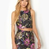 Pink Soda Fantasy Floral Co-Ord Top
