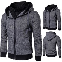 Stylish Casual Hot Sale Men's Fashion Slim Men Hoodies [10669404803]