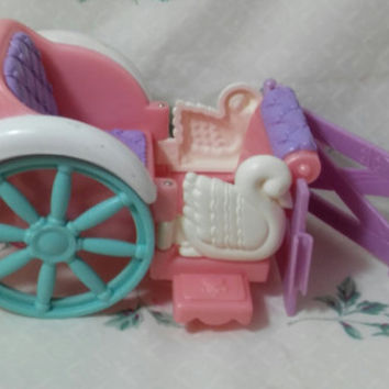 Fisher Price Dream Castle Dollhouse Carriage Replacement with Horse Fence Replacement