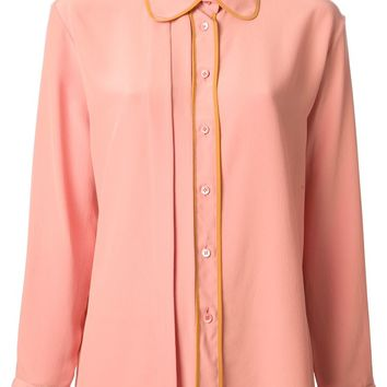 Marni contrast placket blouse