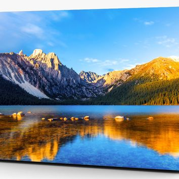 Mountain Lake Reflection Landscape Vinyl Laptop Computer Skin Sticker Decal Wrap Macbook Various Sizes