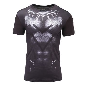 Black Panther T Shirt Captain America Civil War Tee 3D Printed T-shirts Men Avengers iron man Fitness Male Crossfit Tops 2017