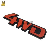 Car Tail Rear Side Metal 4x4 RC 4WD Sticker 3D Chrome Car Emblem Badge Decal Auto Decor Styling for audi bwm toyota volvo Mazda