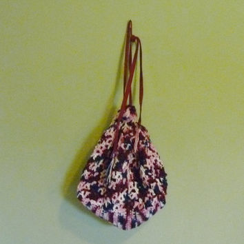 Crochet Drawstring Bag/Tote/Purse