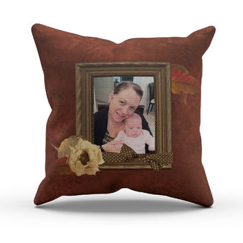 Custom Photo Gift, Pillows Using your own Photos, Shabby Chic, Vintage Style Pillow, Perfect Gift, gift for Gandma, gift for Aunts!
