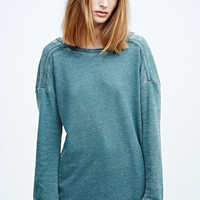 BDG Washed Burnout Top in Green - Urban Outfitters
