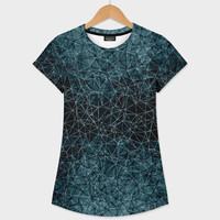 «Polygons blue and white», Numbered Edition Women's All Over T-Shirt by VanessaGF - From 37€ - Curioos