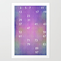 The solitude of Prime Numbers Art Print by Steffi Louis-findsFUNDSTUECKE