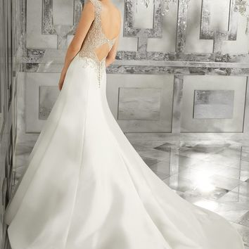 Morilee 8181 Meranda Beaded Satin A-Line Wedding Dress