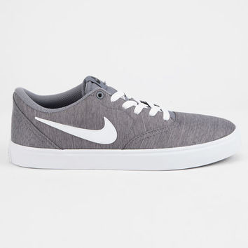NIKE SB Check Solarsoft Canvas Gunsmoke & White Shoes