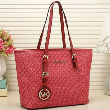 MK MICHAEL KORS trend new women's high quality high quality Messenger bag F-LLBPFSH Red