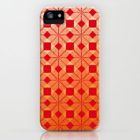 Fire iPhone & iPod Case by Gréta Thórsdóttir  #scandinavian #snowflake #heat, #passion #red #gold #pattern #iphone