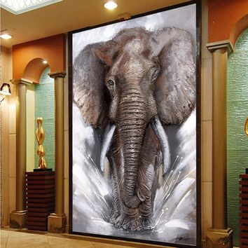 SELFLESSLY Thunder Elephant Wall Art Canvas Pictures Modern Elephants Landscape Posters Home Decoration Printed Cuadros Painting