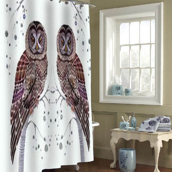 owlspecial custom shower curtains that will make your bathroom adorable