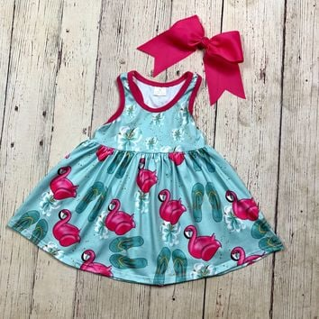RTS Flamingos & Sandals Dress D25