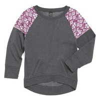 Zella Raglan Sweatshirt (Little Girls & Big Girls) | Nordstrom