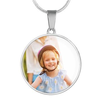 Show Love For Them Personalized Photo Round Necklace
