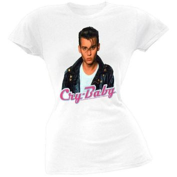 ESBGQ9 Cry Baby - Face Juniors T-Shirt
