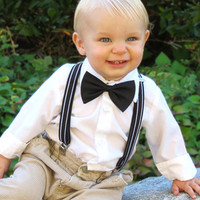 Little Boy Suspender and Bow Tie